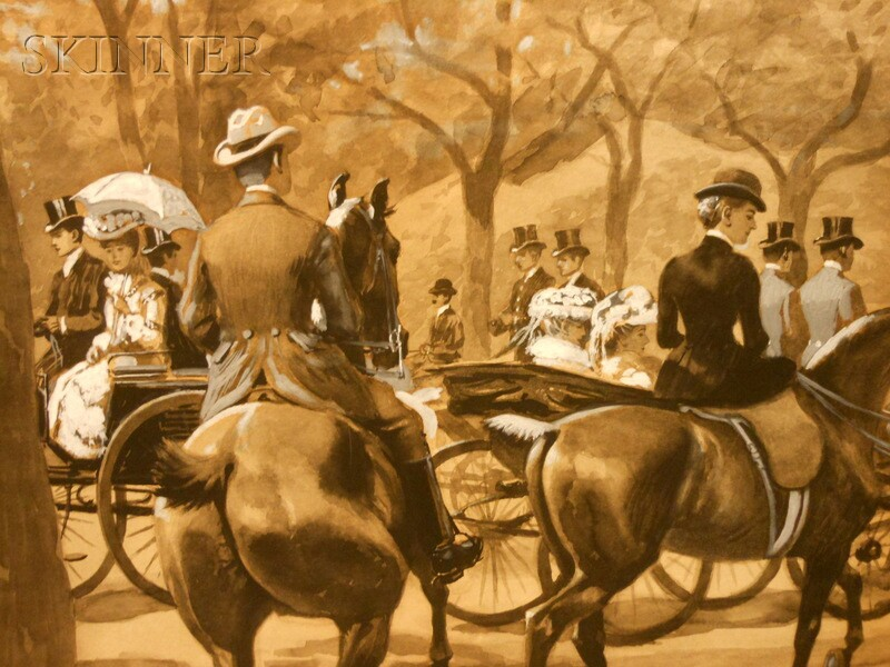 Max Francis Klepper (American, 1861-1907)      Day at the Races
