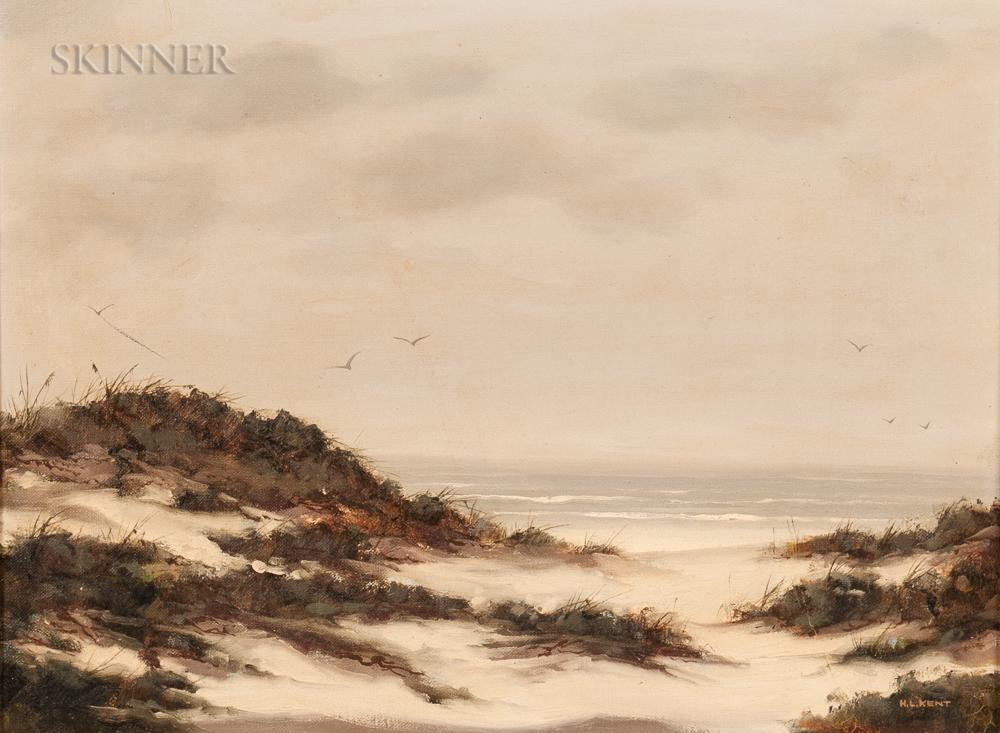 Herman Latham Kent (American, 1930-2010)      Beach Dunes