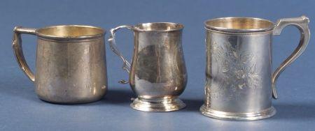 Three Silver Mugs