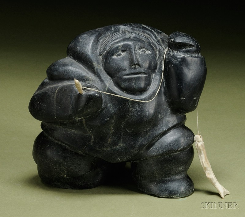 Contemporary Inuit Stone And Bone Carving Sale Number 2442 Lot Number 275 Skinner Auctioneers