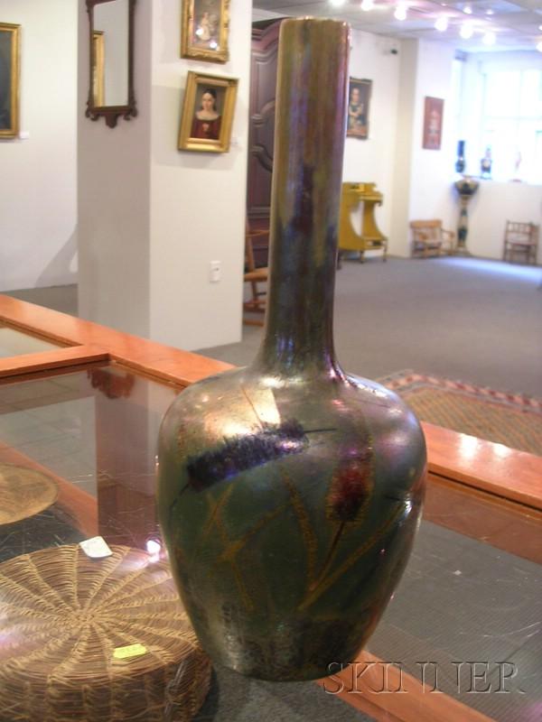 Clement Massier Metallic Glazed Vase