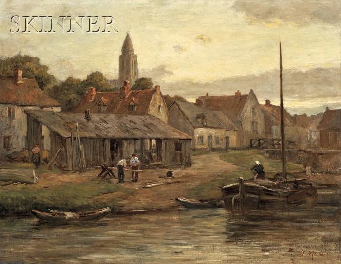 Jacob Maris  (Dutch, 1837-1899)      On the Maas, Holland