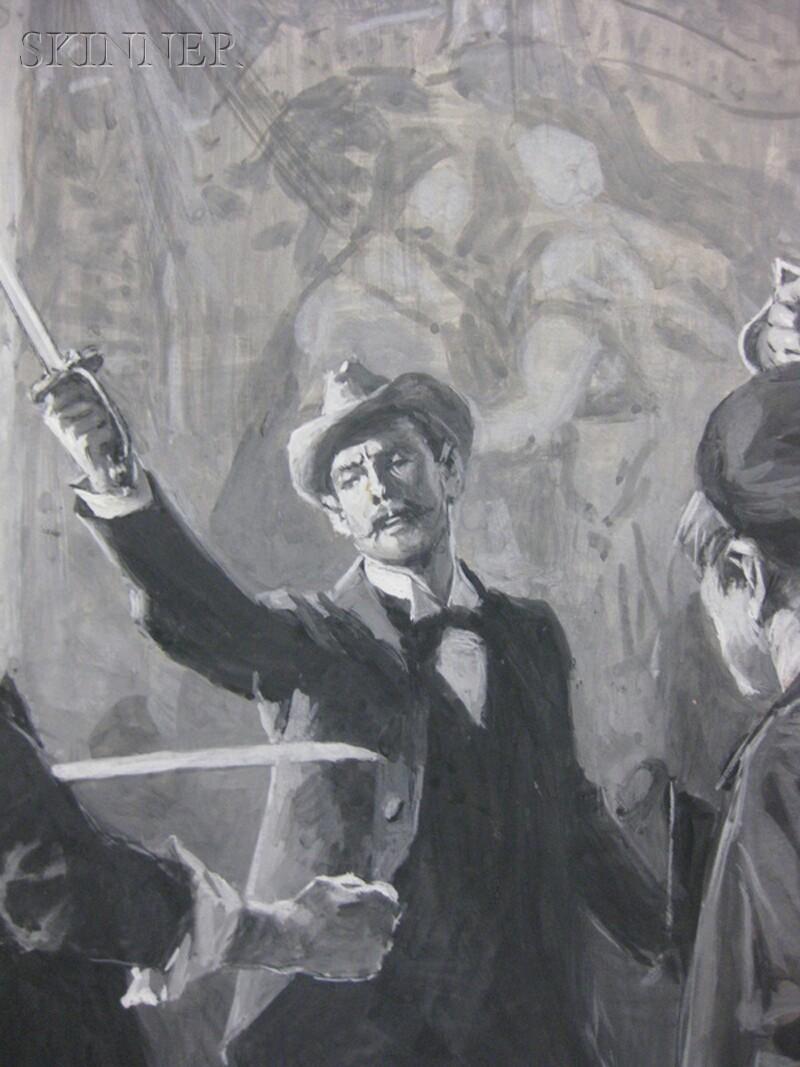 Thure Thulstrup (American, 1848-1930)      Brandishing Swords