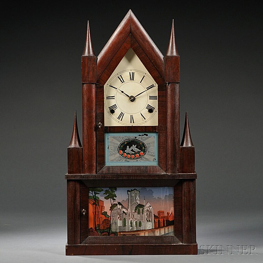 Manross Double Steeple Shelf Clock