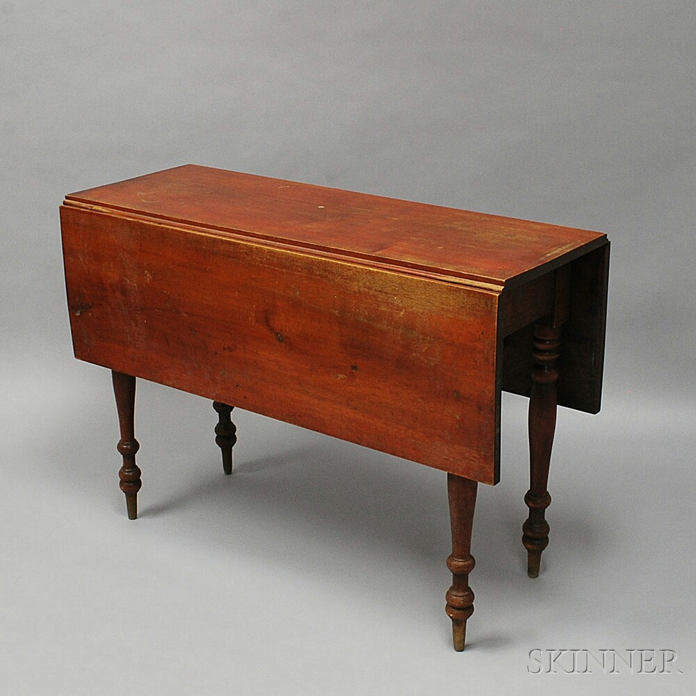 Federal Red-stained Birch Drop-leaf Table