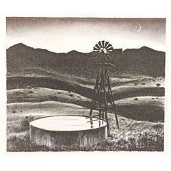 Peter Hurd (American, 1904-1984)  The Water Tank.