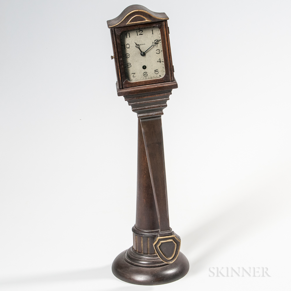 Unusual Ansonia Clock Co. No. 1 Mahogany Swinger Clock
