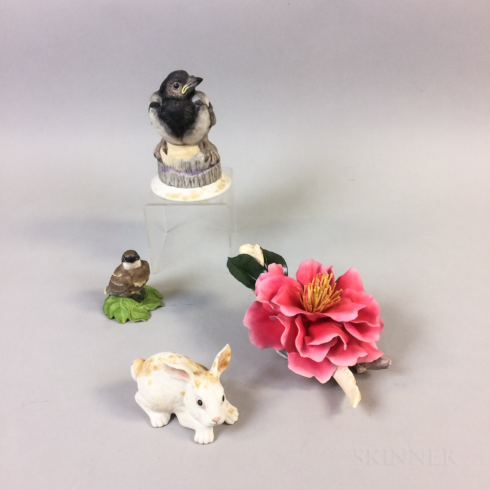 Four Boehm Porcelain Items