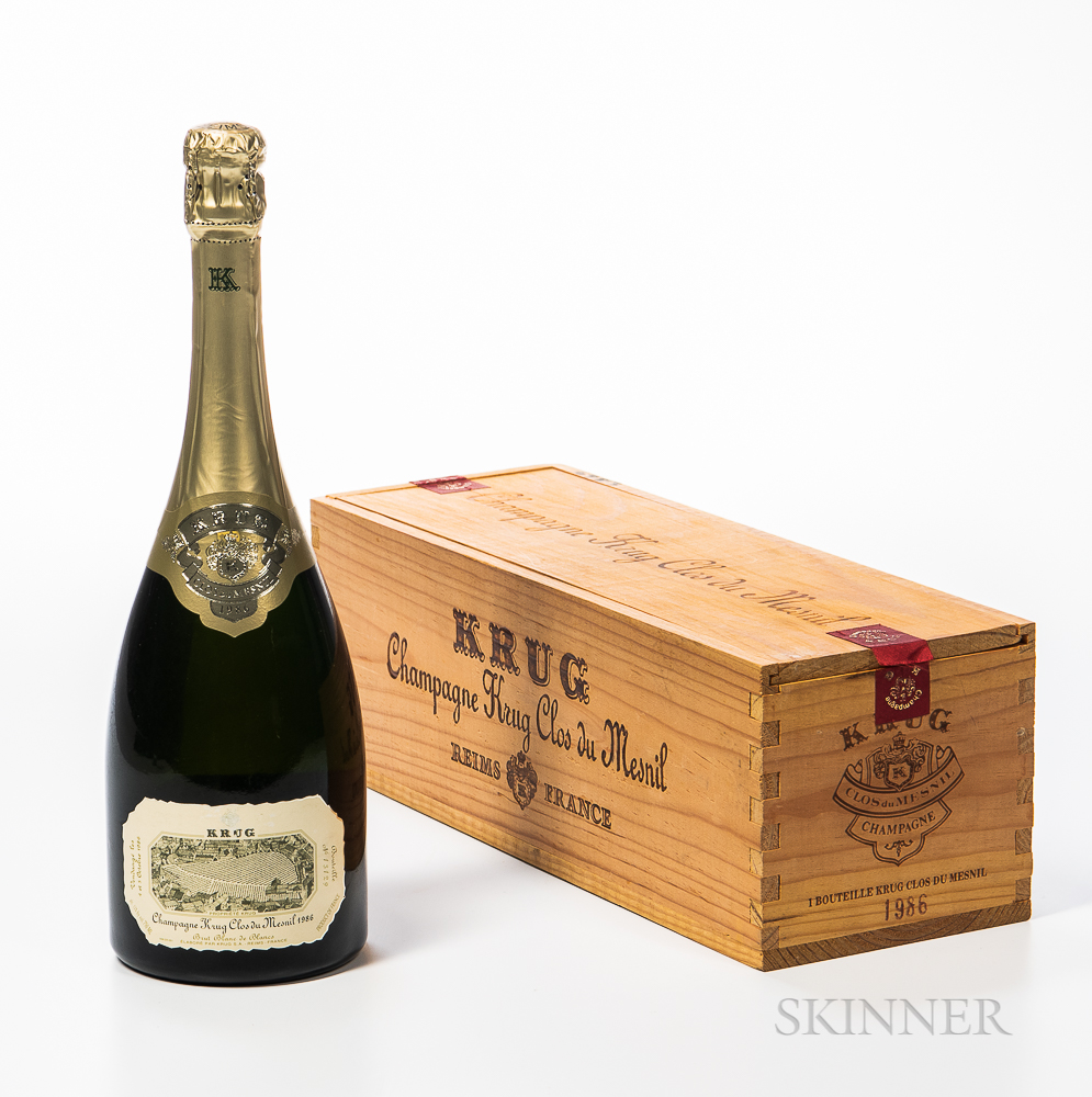 Krug Clos du Mesnil 1986, 1 bottle (owc)