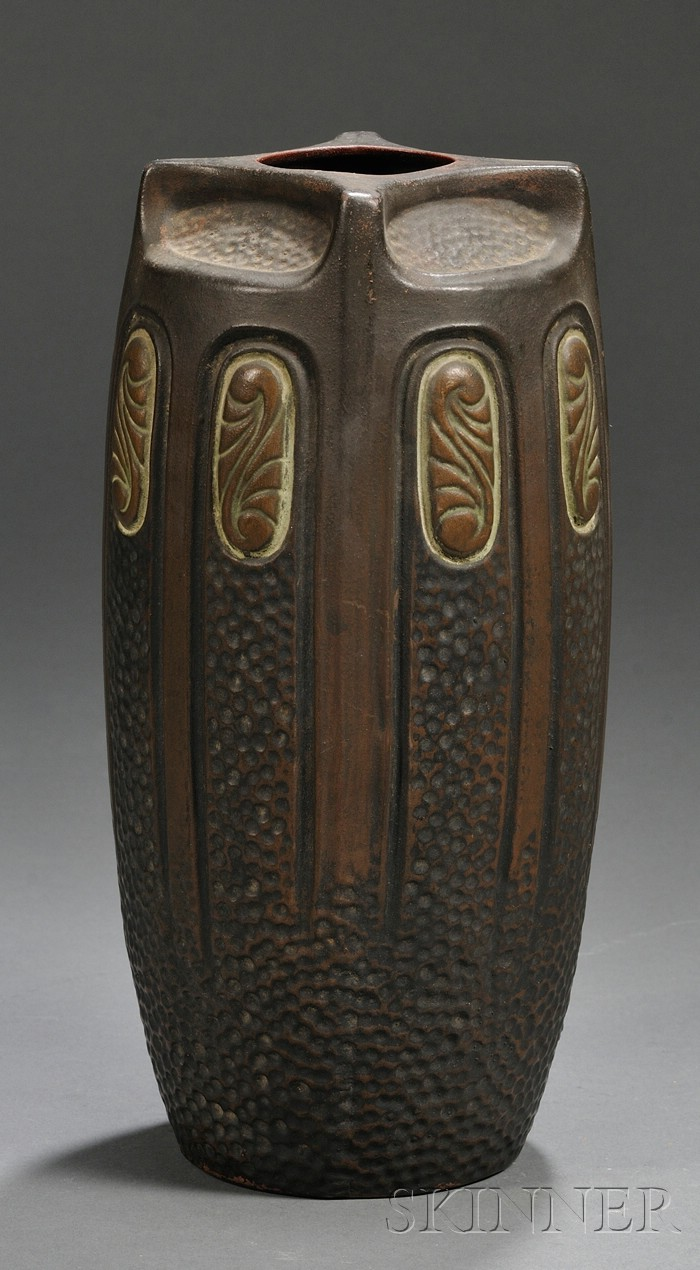 Bursley Ware Vase, Charlotte Rhead for H.J. Wood, 1930's