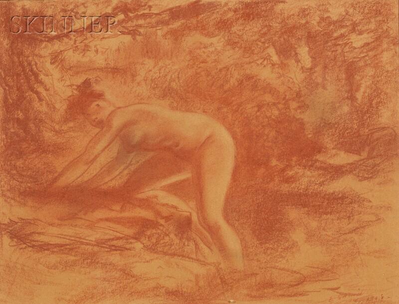 Everett Shinn (American, 1876-1953)      La Nymphe