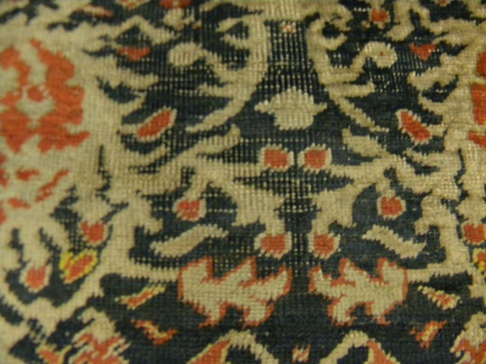 Silk Tabriz Saddle Rug