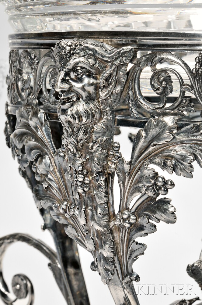 George III Sterling Silver Two-arm Epergne