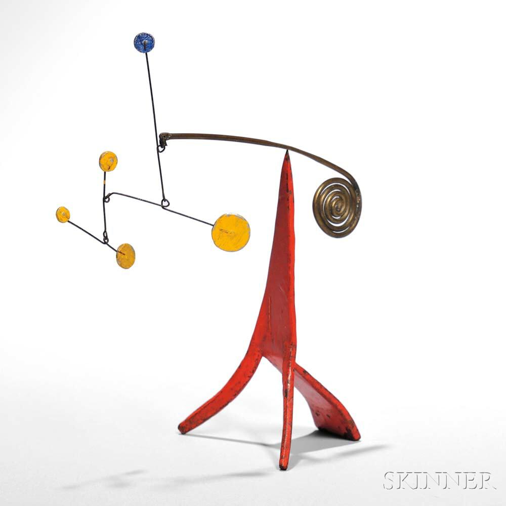 Alexander Calder (American, 1898-1976)      Untitled (Standing Mobile, c. 1965)