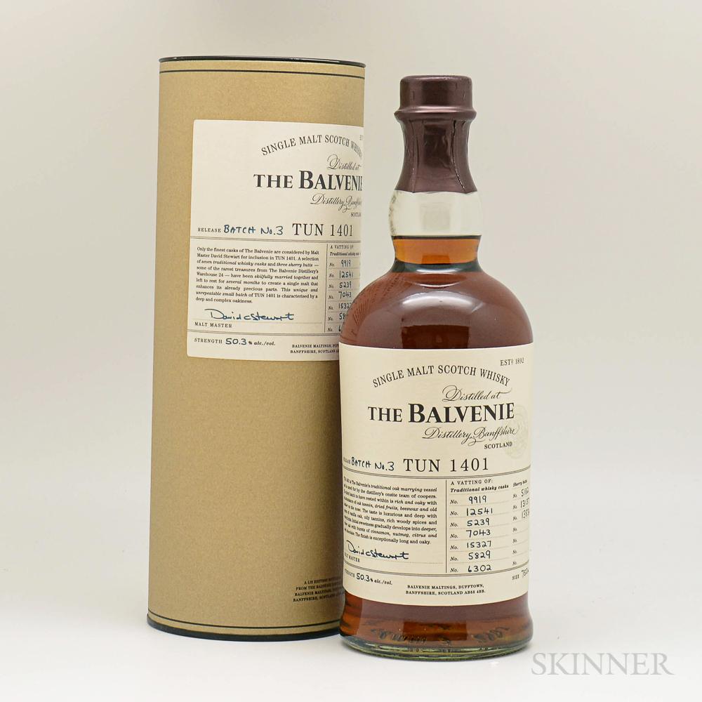 Balvenie TUN 1401 Batch No. 3, 1 750ml bottle (ot)