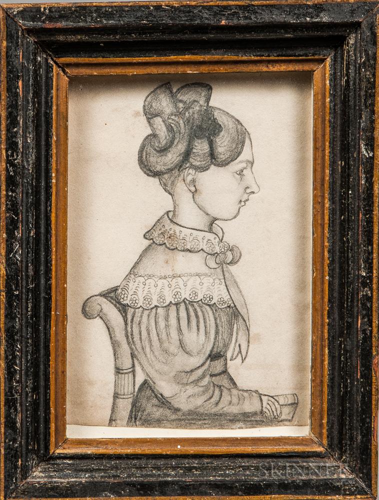 J.M. Crowley (American, 19th Century)      Portrait of Woman