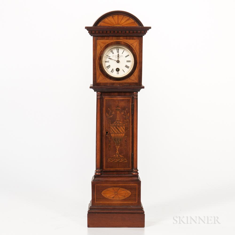 Miniature Inlaid English Long-case Clock