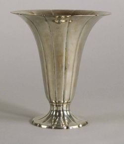 Tiffany & Co. Hammered Sterling Trumpet Vase