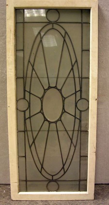 Architectural Leaded Glass Window Panel.