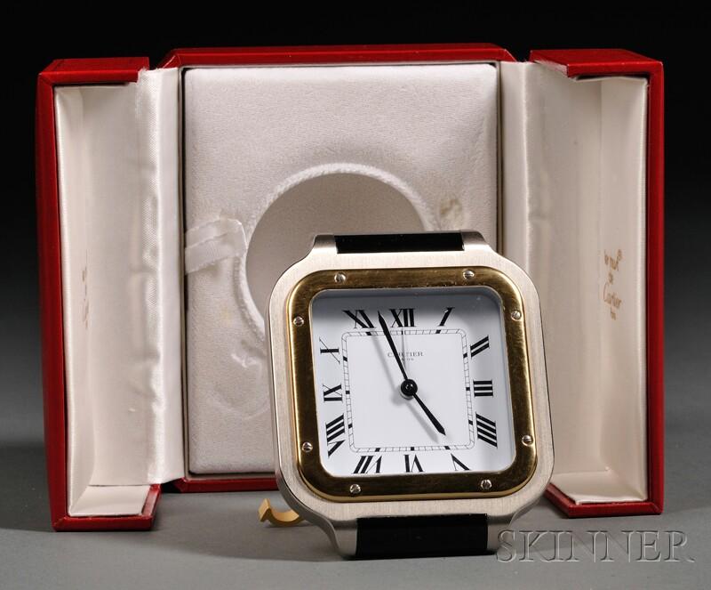 """Cartier """"Santos de Cartier"""" Travel Clock"""