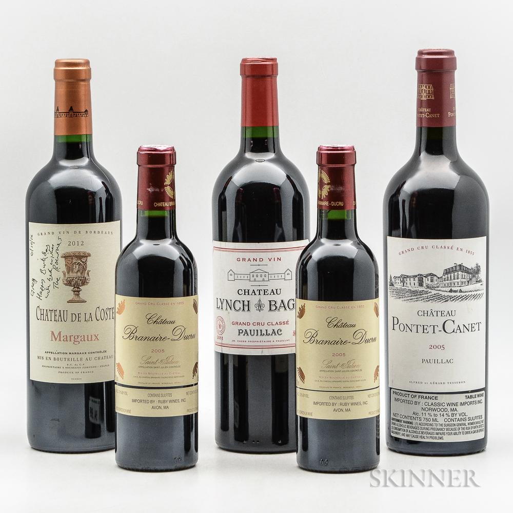 Mixed Bordeaux, 2 demi bottles 3 bottles