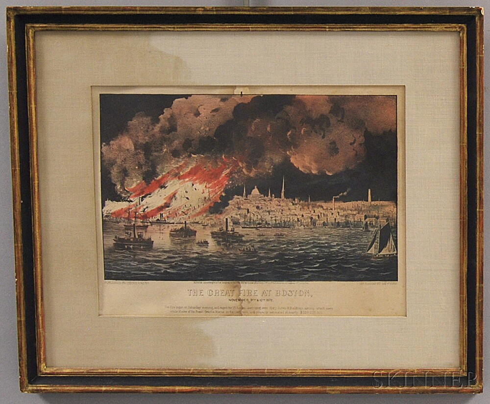 Currier & Ives, publishers (American, 1857-1907)      The Great Fire at Boston