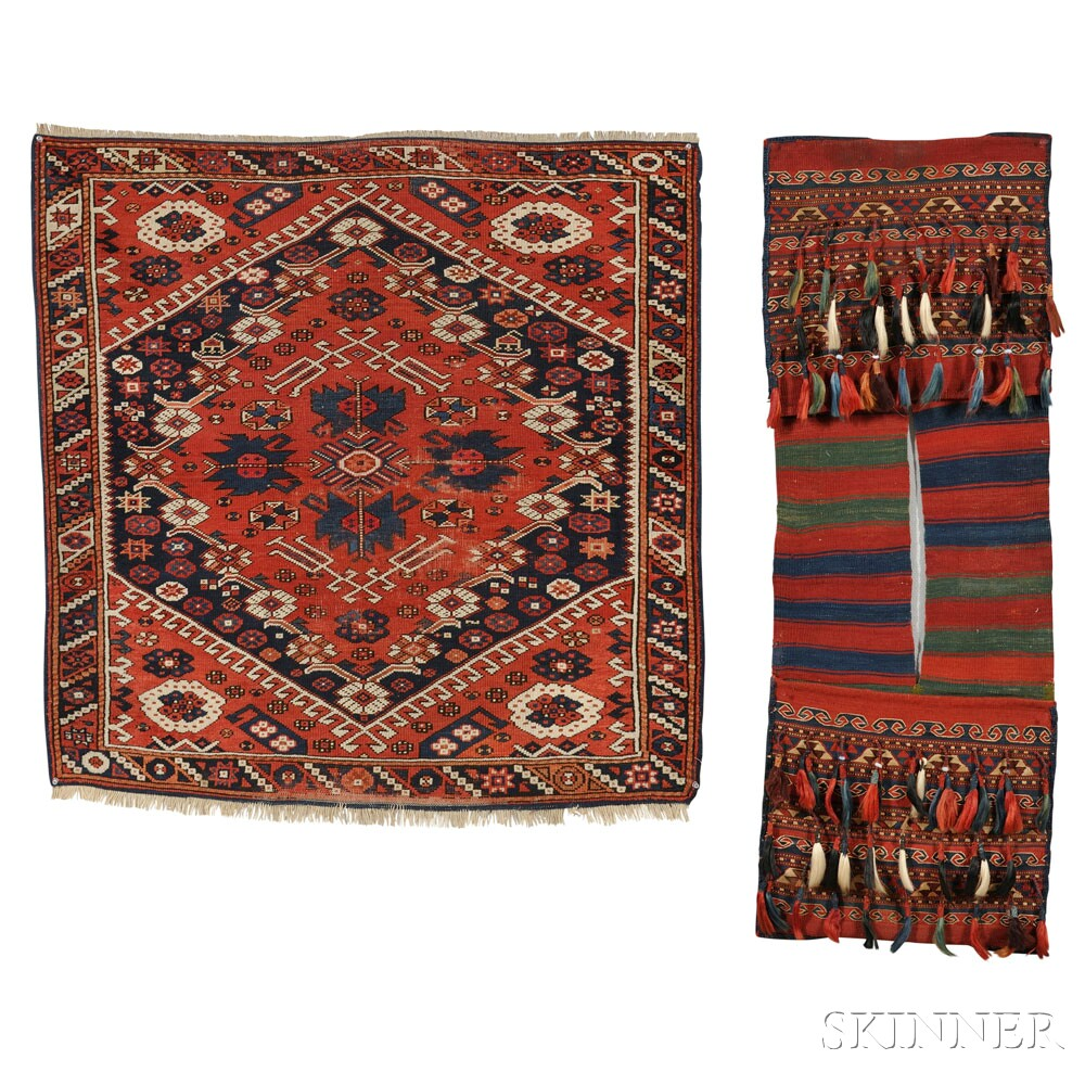 Bergama Small Rug and a Pair of Bags