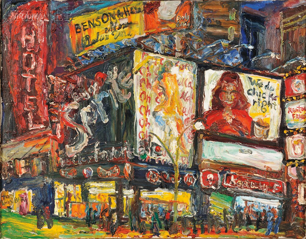 Philip Sherrod (American, b. 1935)      Times Sq. Sprite/Oh! Calcutta!/We Do Chicks Right!