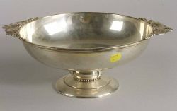 Arts and Crafts-style Sterling Fruit Bowl