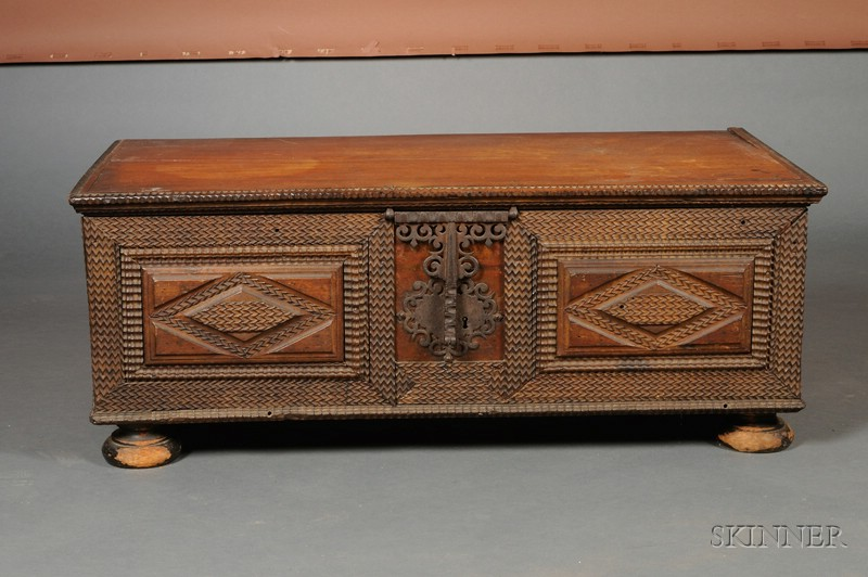 Continental chip carved mahogany blanket chest sale