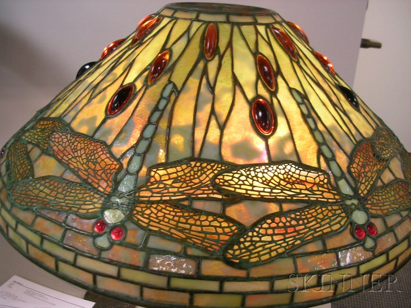 Tiffany Studios Leaded Glass and Bronze