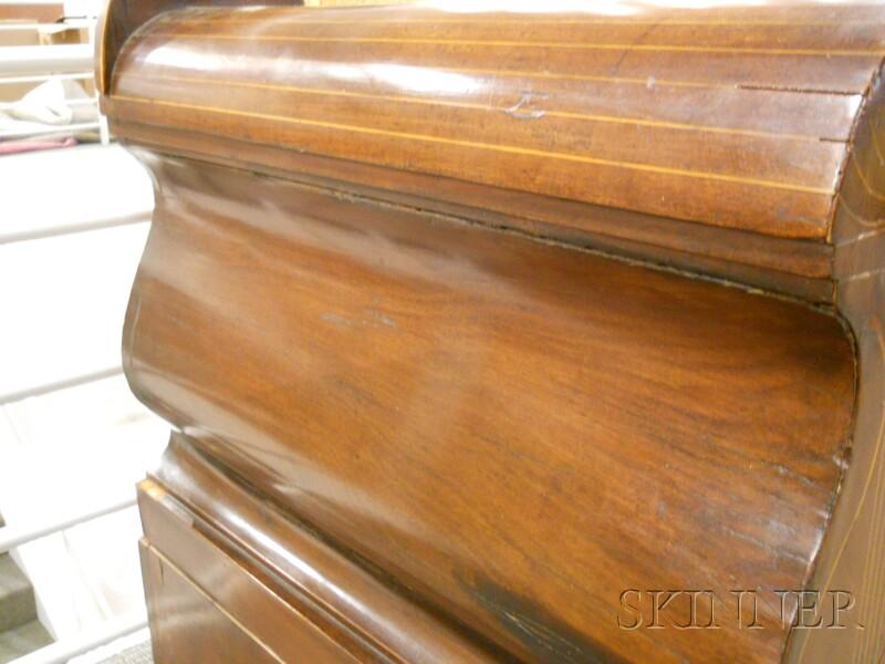 Italian Neoclassical Inlaid Fruitwood Settee