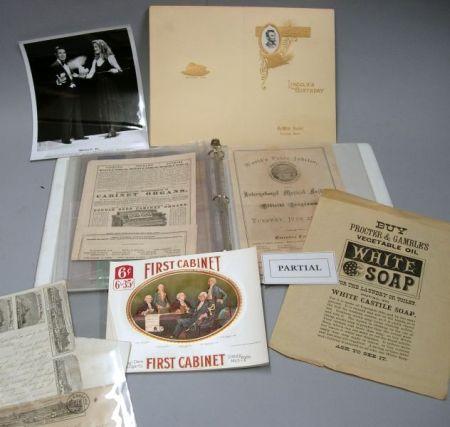 Album of Ephemera and Collectibles