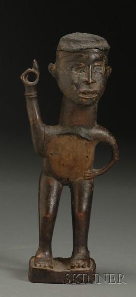 African Carved Wood Fetish Figure