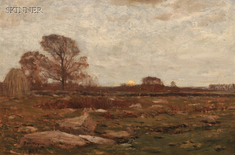 Dwight William Tryon (American, 1849-1925)      Landscape at Dusk