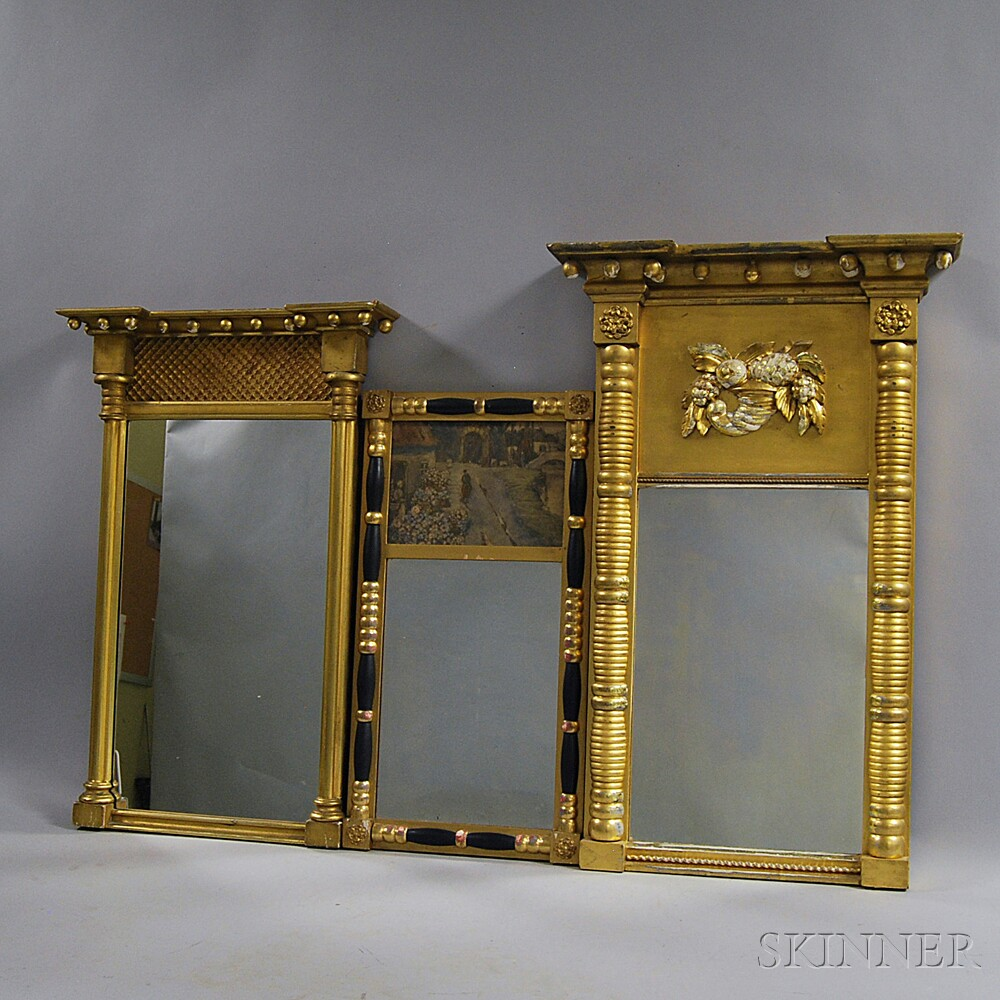 Three Federal and Federal-style Gilt Mirrors