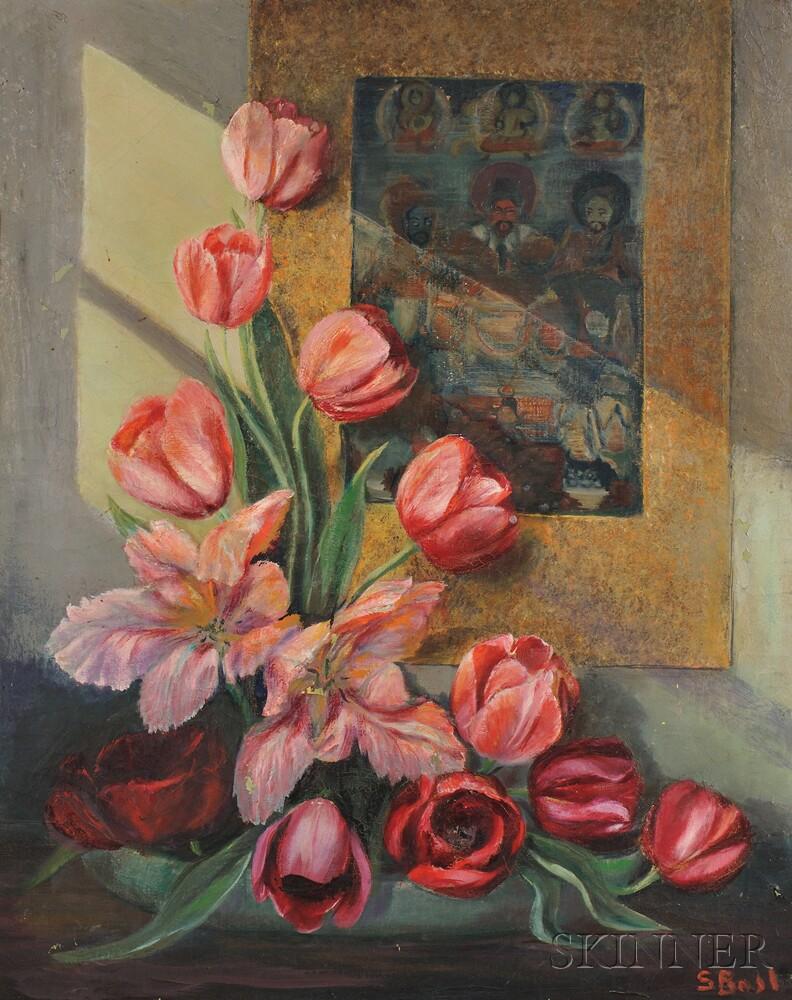 Sara Metzner Boal (American, 1896-1979)    Still Life with Flowers