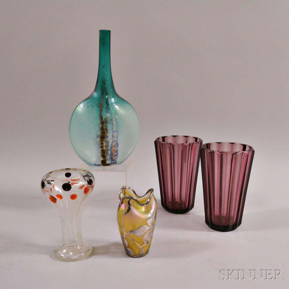 Five Glass Decorative Items