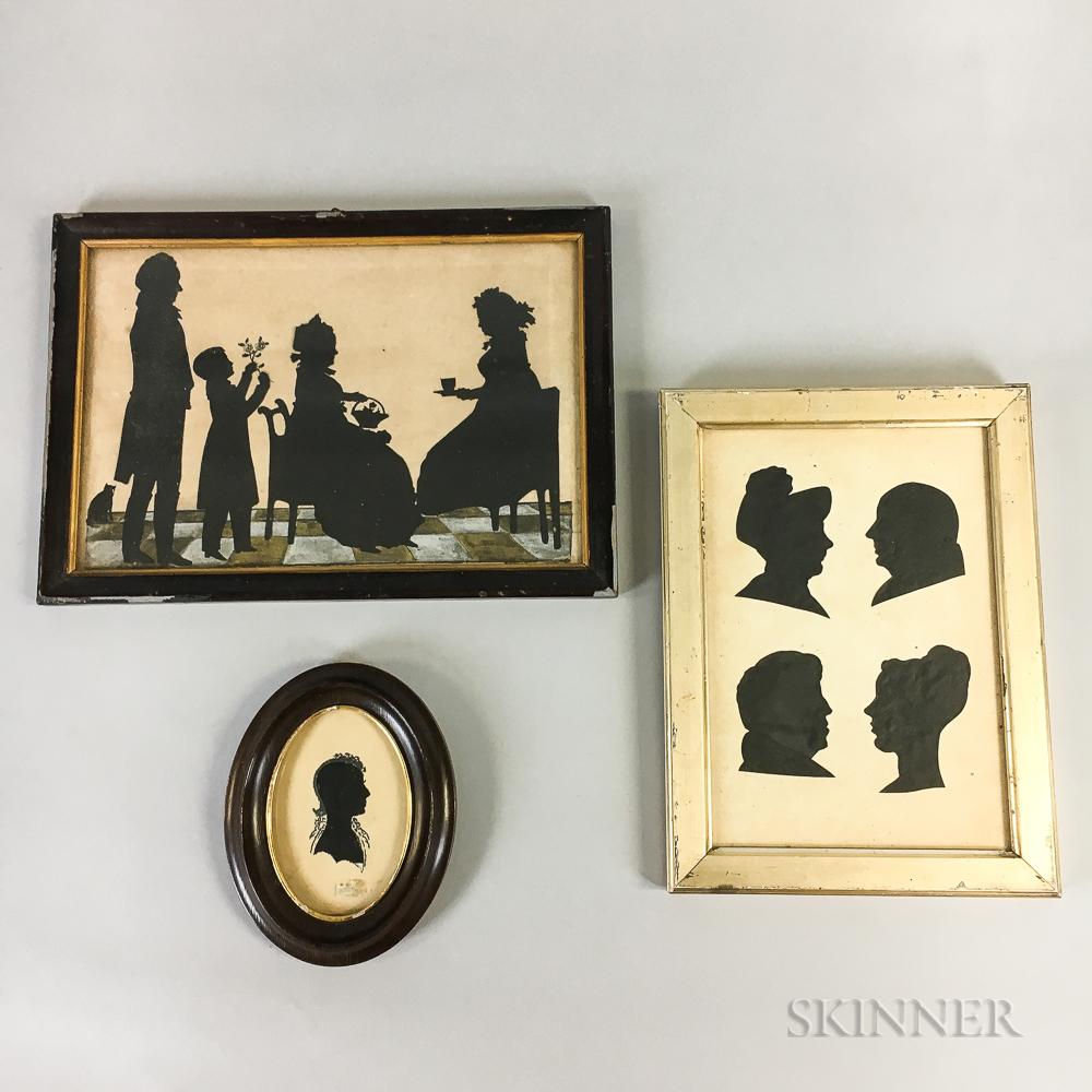 Three Framed Silhouettes