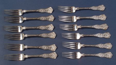 "Twelve Tiffany & Co. ""Olympia"" Dinner Forks"