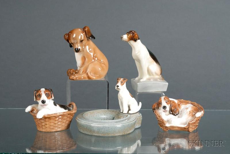 Five Royal Doulton Dog Figures