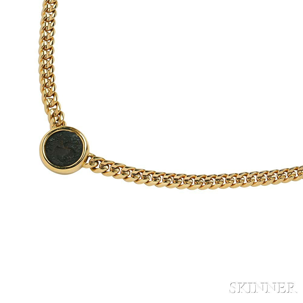 18kt Gold and Ancient Coin Necklace, Bulgari