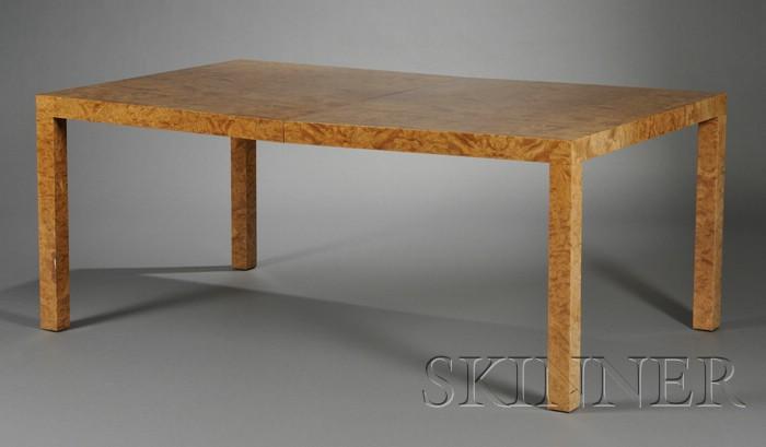 Art Deco Style Burlwood Veneer Dining Table