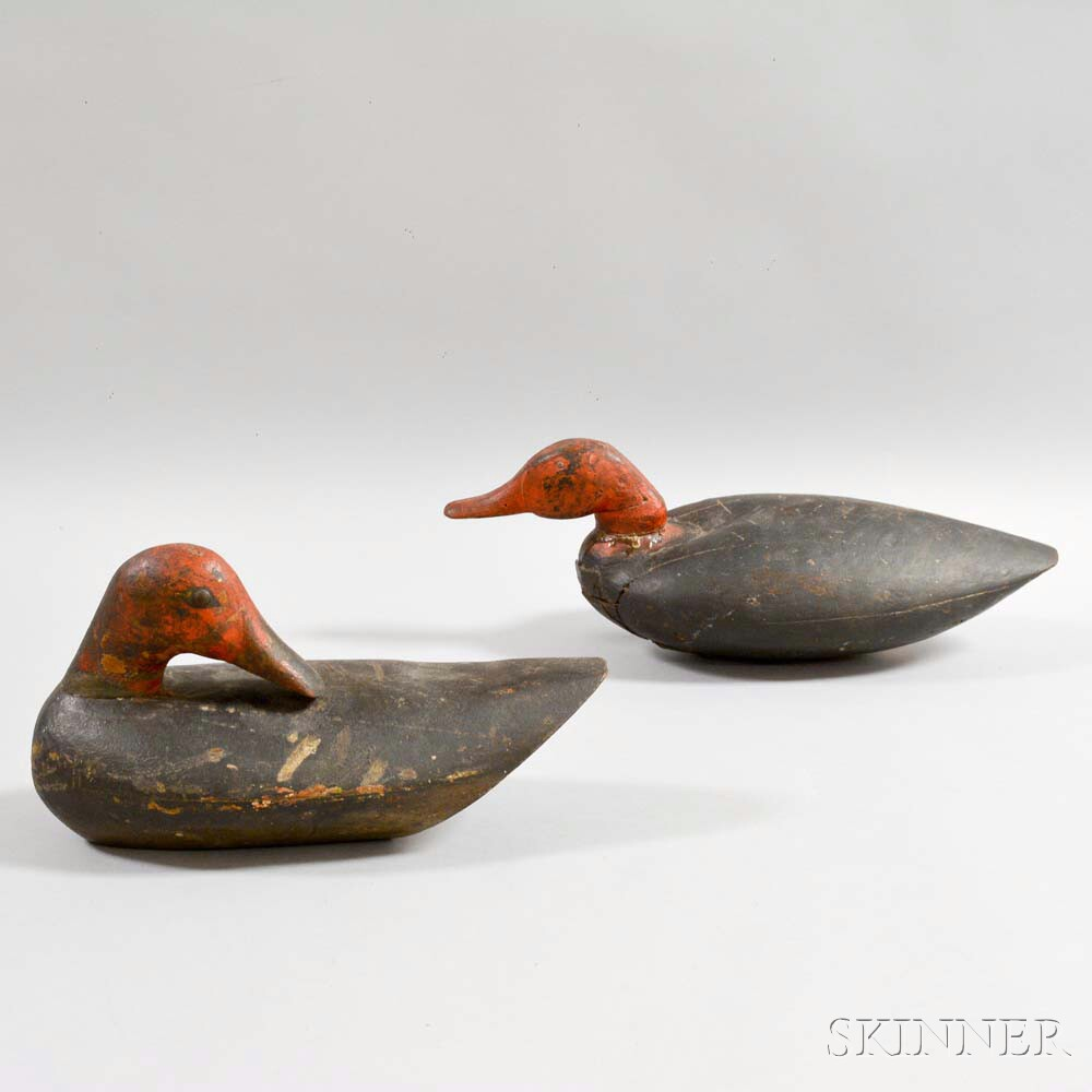 Pair of Carved and Painted Duck Decoys