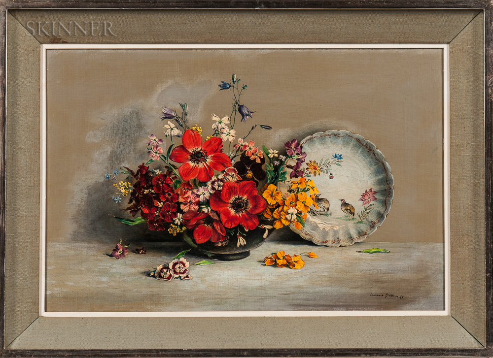 Laurence Biddle (British, 1888-1968)      Flowers in a Bowl