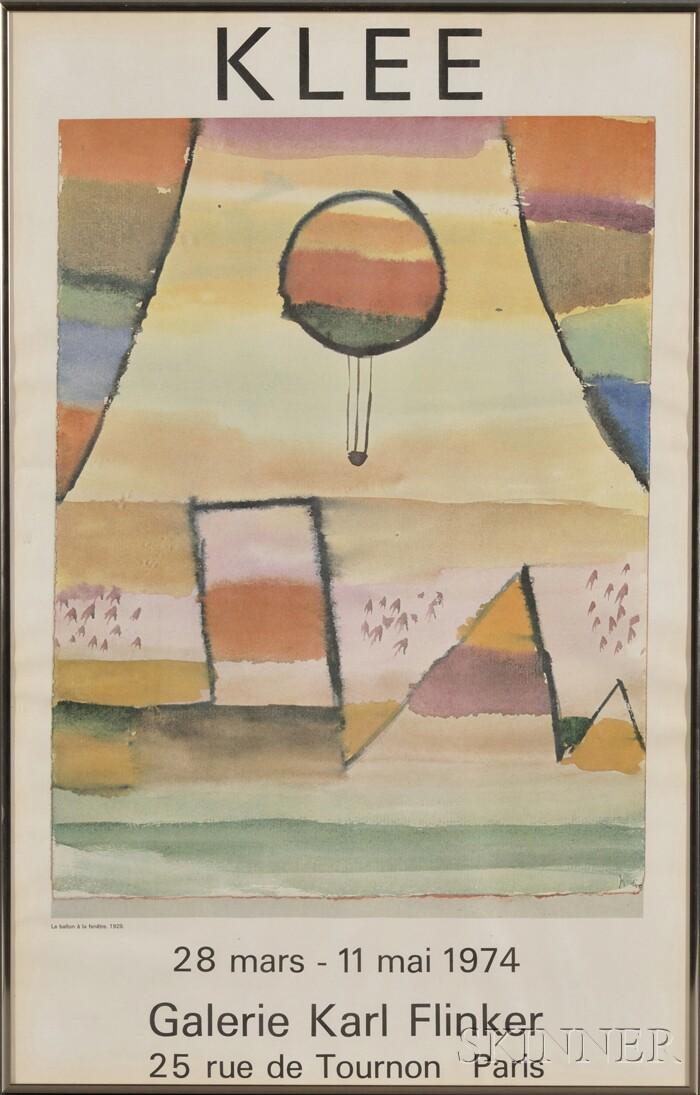 After Paul Klee (Swiss, 1879-1940)      Galerie Karl Flinker Exhibition Poster