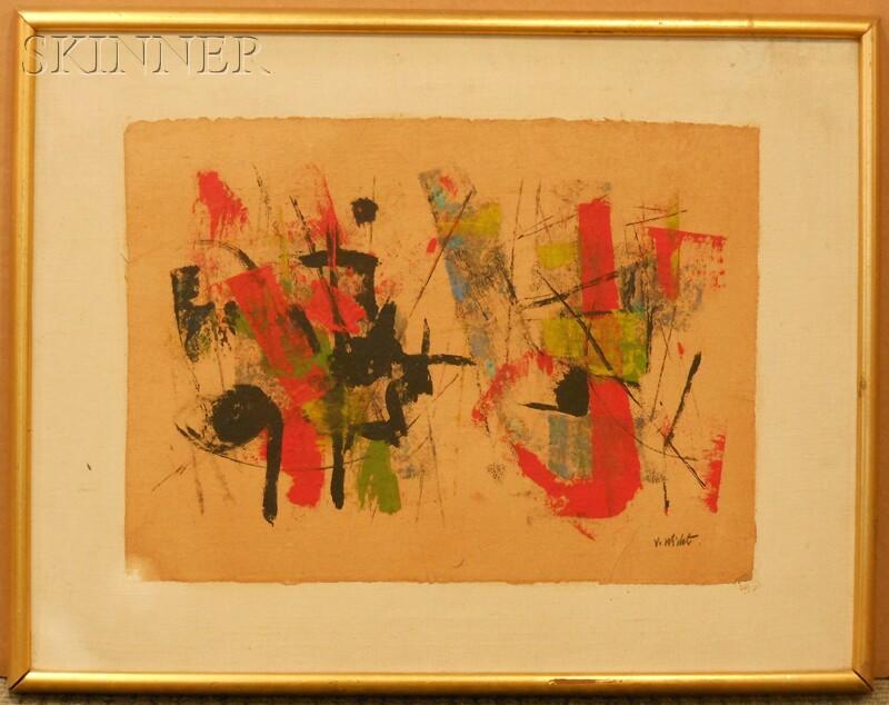 John G.F. Von Wicht (American, 1888-1970)      Abstract Composition