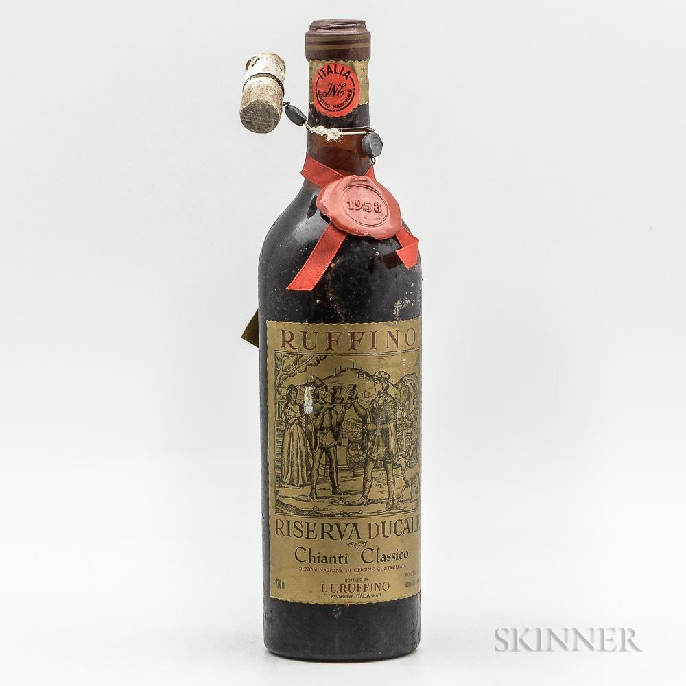 Ruffino Chianti Riserva Ducale 1958, 1 bottle