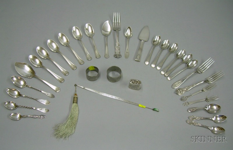 Twenty-eight Sterling Silver Flatware Items