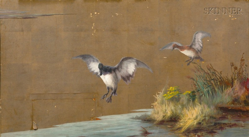 Maud Earl (Anglo/American, 1864-1943)      Ducks in Flight